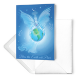Blue Earth Angel - Greeting Cards