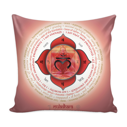 First Root Chakra - Muladhara - Pillow Cover