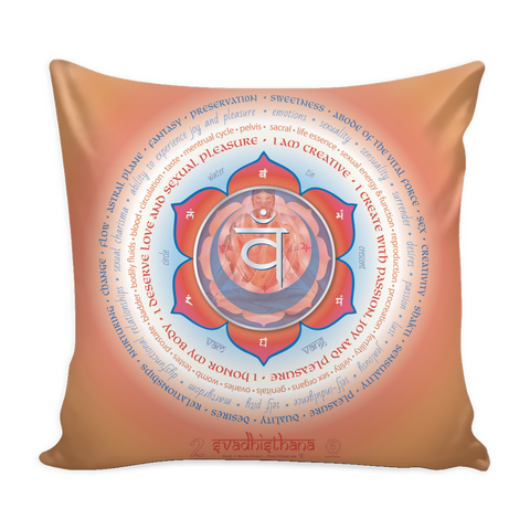 Second Chakra - Pillow Cover