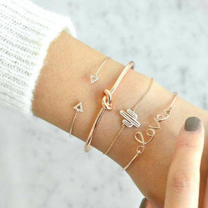 4 Pcs/set Pulseras retro love