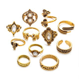 11 Pcs/set anillos retro bohemian