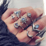 7 Pcs/set anillos triangle