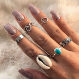 7 Pcs/set anillos de playa
