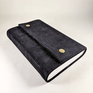 Navy Suede Journal with Snap Closures