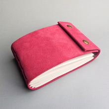 Pink Suede Leather Sketchbook