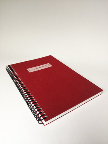 DIY Day Planner in Red Book Cloth