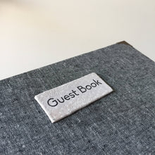 Magpie Grey Cloth Guest Book with Metal Corners