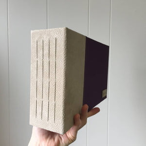 Taupe Suede and Plum Cloth Instax Mini Album