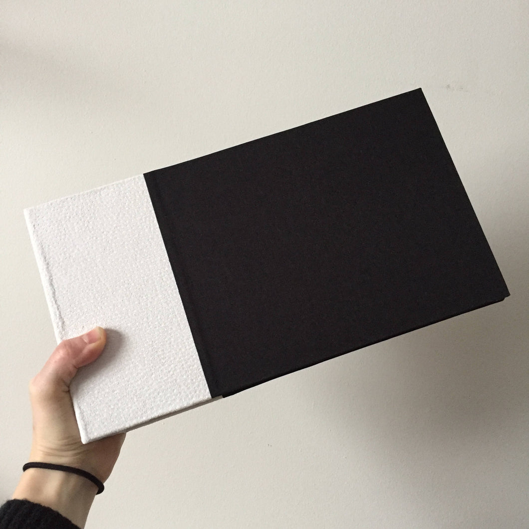 Ivory Suede and Black Cloth Instax Mini Album