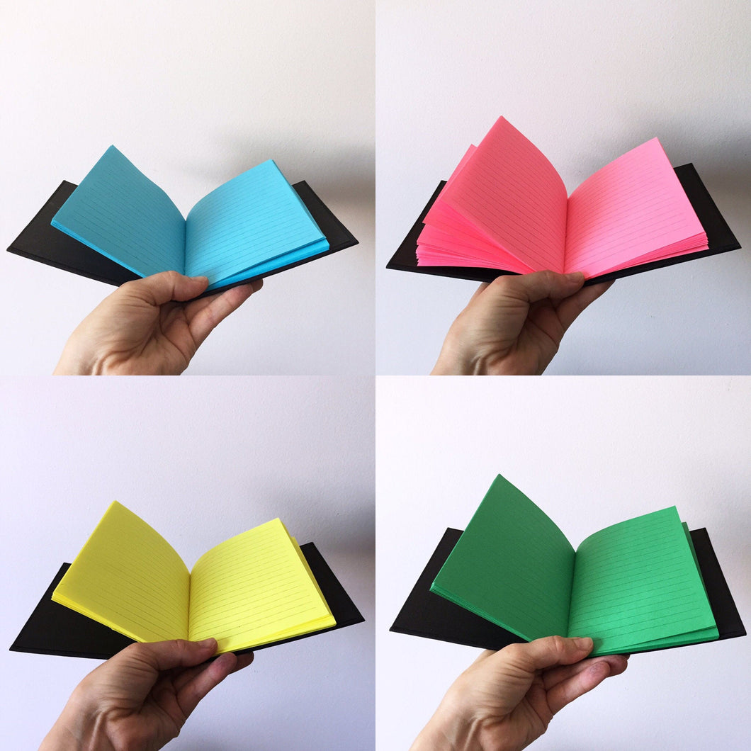 Rainbow Neon Lined Notebook