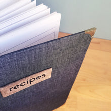 Charcoal Grey Recipe Book for Handwritten Recipes