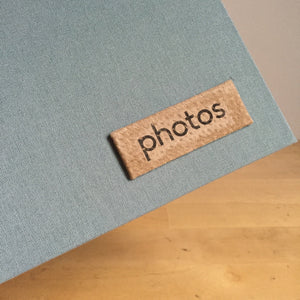 Dusty Blue and Taupe Instax Mini Album