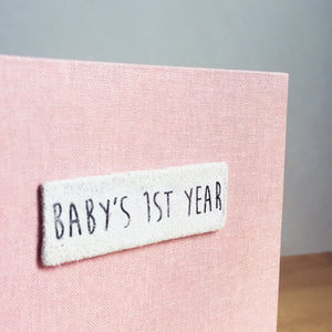 Light Pink Baby's First Year Album for Instax Mini Film Photos
