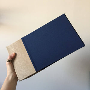 Taupe Suede and Navy Blue Instax Mini Album
