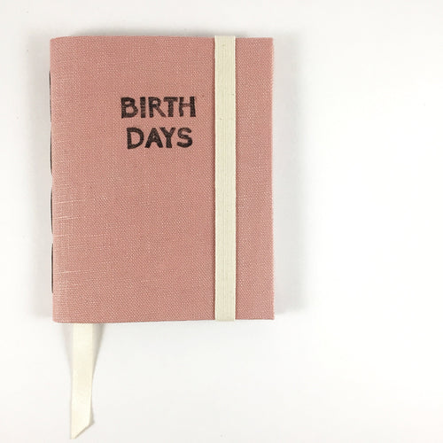 Rose Linen Birthday Calendar Book // A Book for Remembering Birthdays