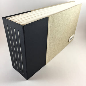 Black and Natural Linen Instant Photo Album