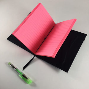 Neon Pink Lined Notebook