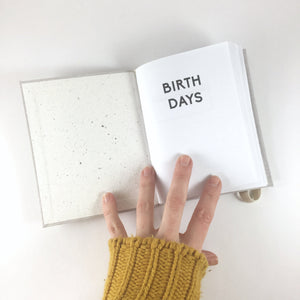 Moon Cloth Birthday Book // A Birthday Calendar and Reminder Journal