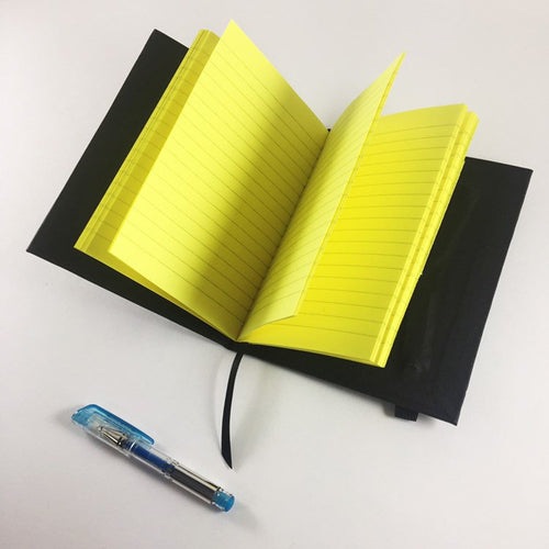 Neon Yellow Lined Notebook