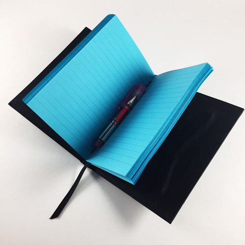 Neon Blue Lined Notebook