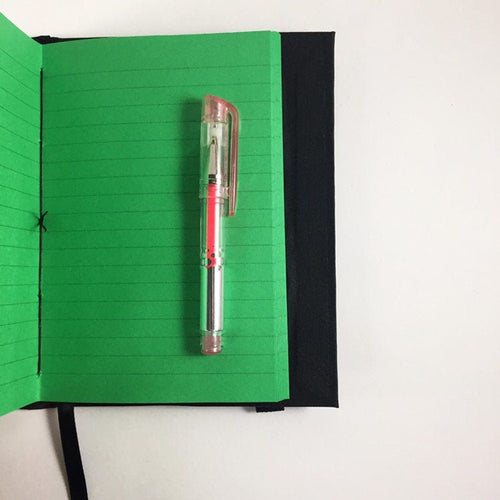 Neon Green Lined Notebook