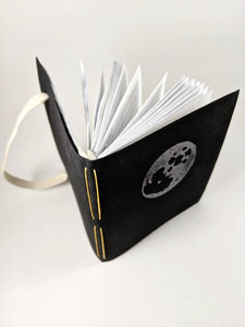 Black Astrology Birthday Calendar Book with Yellow Thread