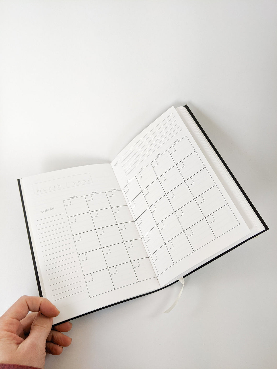 Black DIY Day Planner