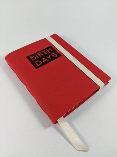 Birthday Calendar Journal in Red Book Cloth