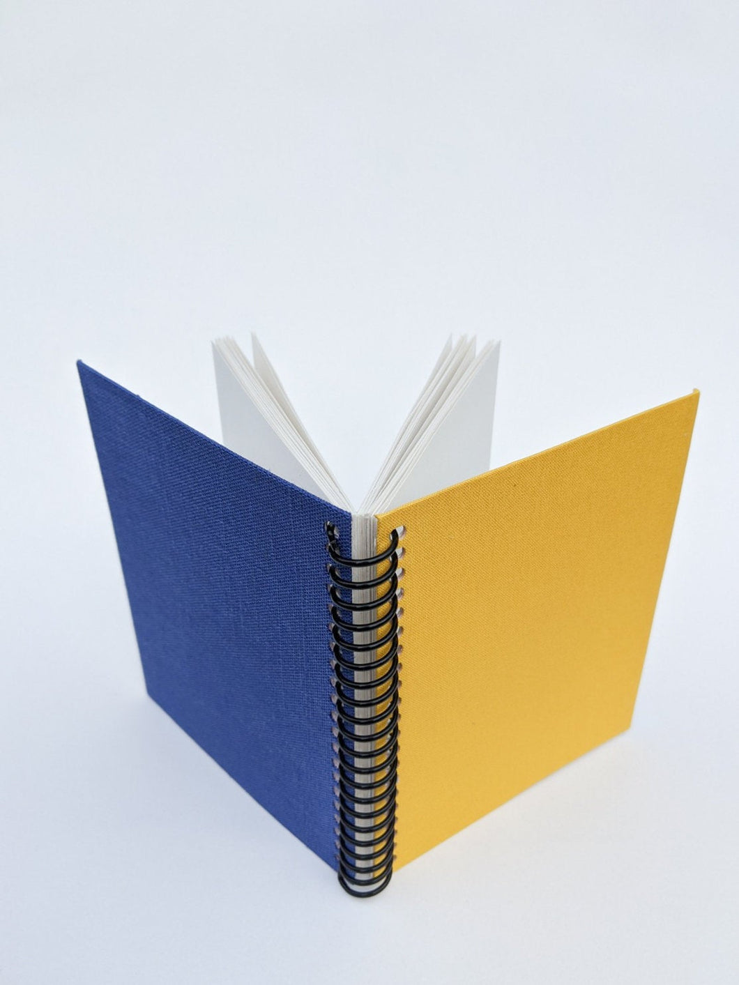 Small Yellow and Blue Cloth Coil Sketchbook