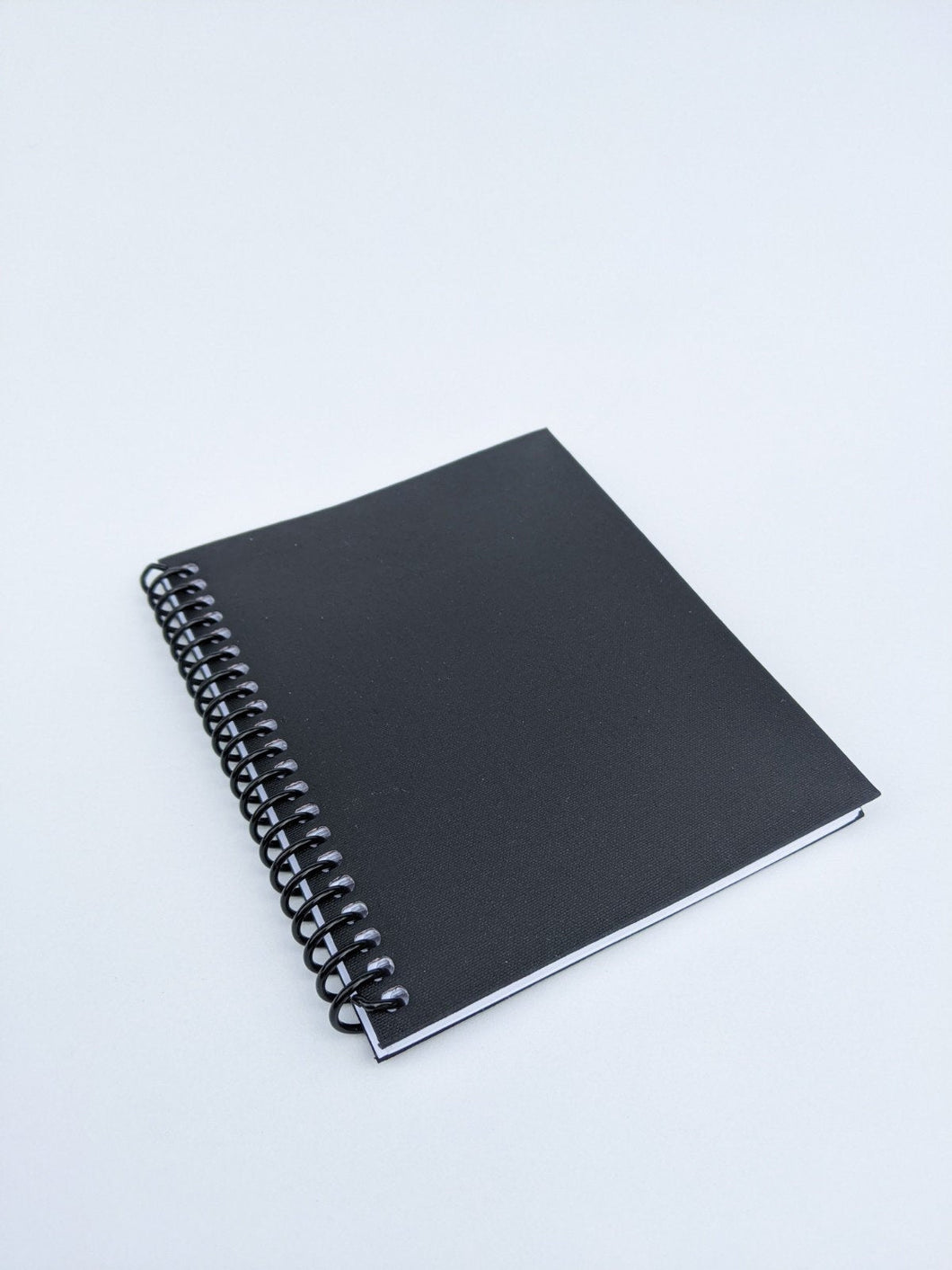 Black Coil Bound Lined Notebook