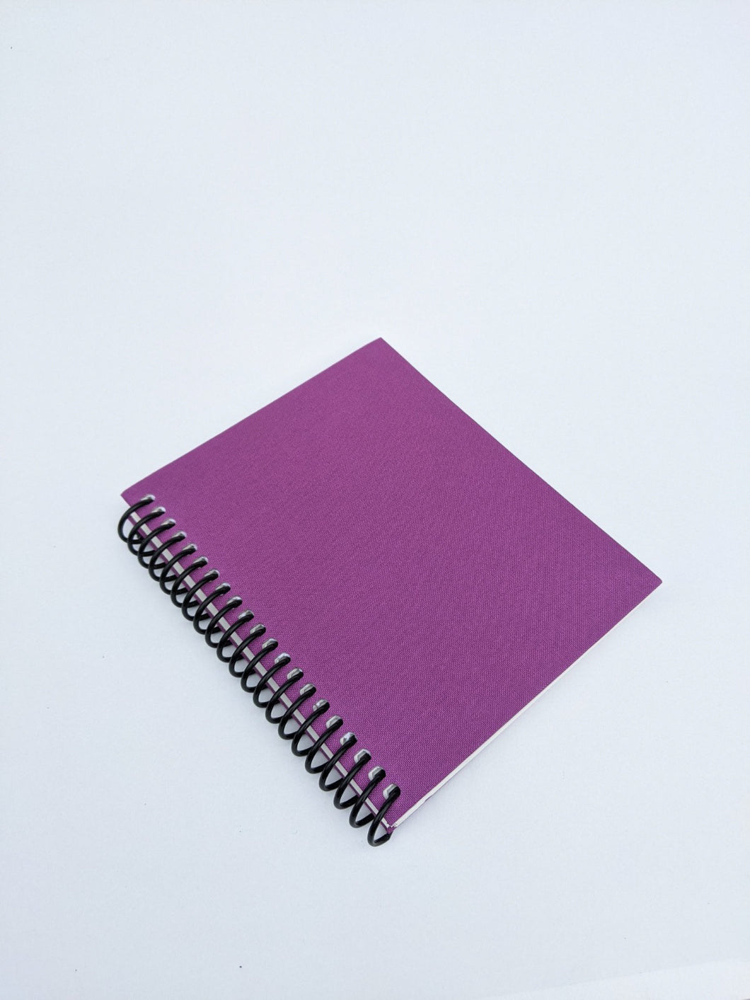 Small Purple Cloth Coil Sketchbook