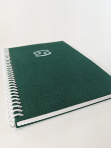 Green Cancer Astrology Sign Lined Notebook