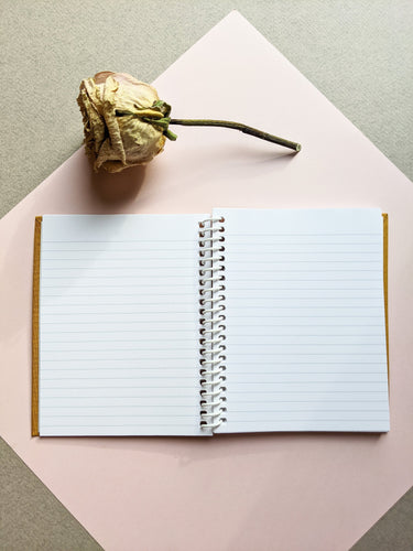 Mustard Coil Bound Lined Notebook