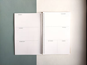 Dusty Blue Cloth 12 Month DIY Day Planner
