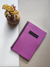 Purple Cloth 12 Month DIY Day Planner