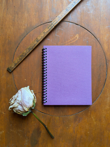 Purple Coil Bound Lined Notebook
