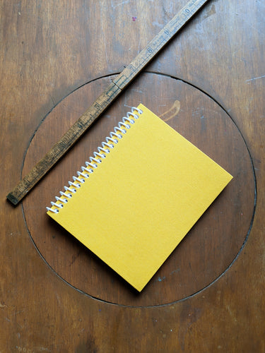Yellow Cloth Coil Bound Lined Notebook