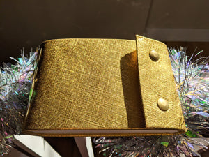 Gold Leather Sketchbook with Snap Closures