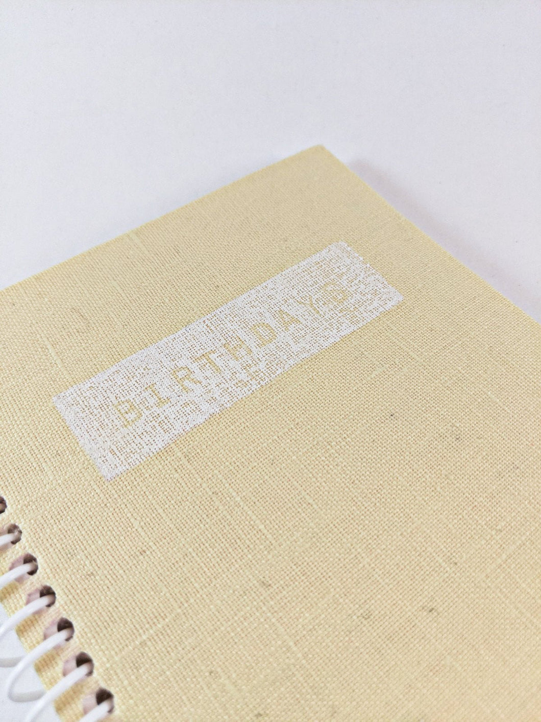 Light Yellow Birthday Calendar Book, Birthday Reminder and Perpetual Calendar