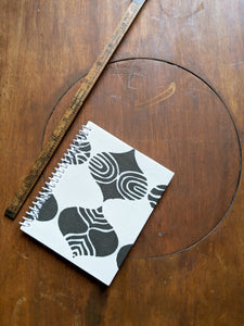 Brown and White Coil Bound Lined Notebook
