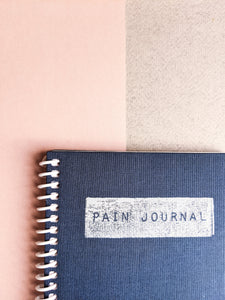 Navy Blue Cloth Pain and Symptom Journal