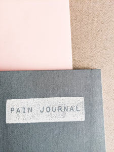 Dusty Blue Cloth Pain and Symptom Journal