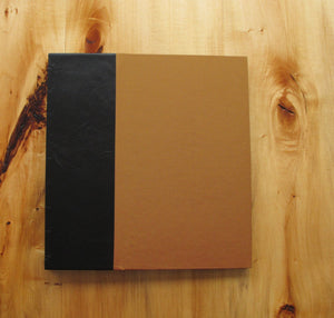 Leather and Book Cloth Coptic Photo Album with Black Paper Pages