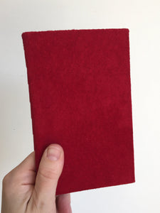 Crimson Suede Vow Book, Book for Vows, Leather Vow Book