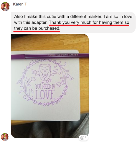 customer review of pen adapter for cricut