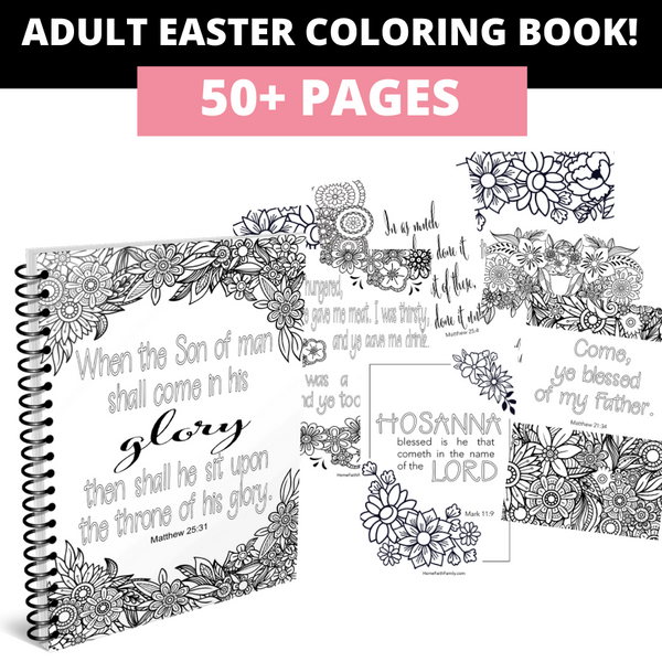 adult easter coloring book