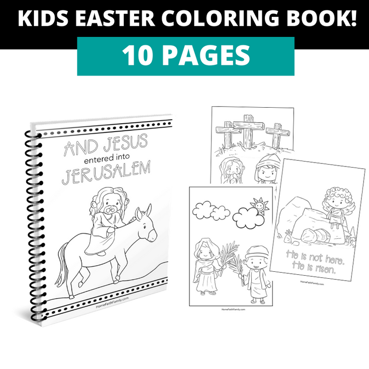 Kids and adult Easter coloring book.
