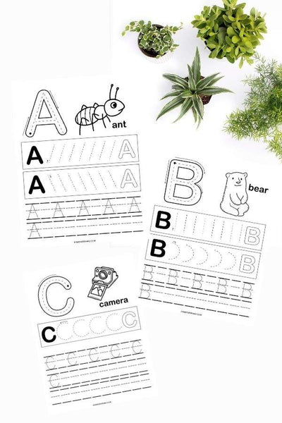 Alphabet Pre-Writing Practice Sheets