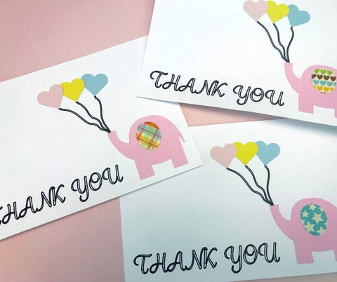 Thank You Postcard (Elephant) SVG