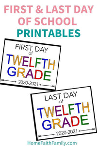 First and Last Day of School Printable Sign (With FREE Lifetime Updates)